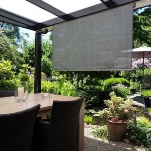 Plastic rolgordijn voor buiten – Goedkope tuinhuisjes