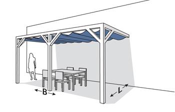 complete pergolaset wall 2. Black Bedroom Furniture Sets. Home Design Ideas