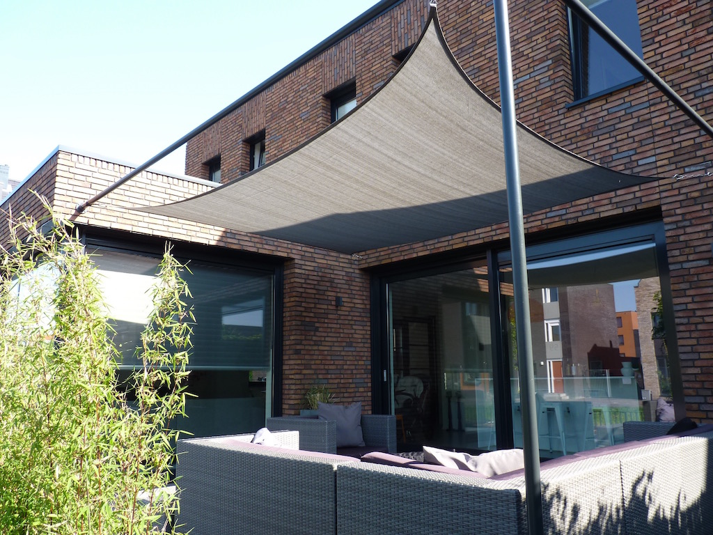waterdoorlatend coolfit nesling schaduwdoek vierkant
